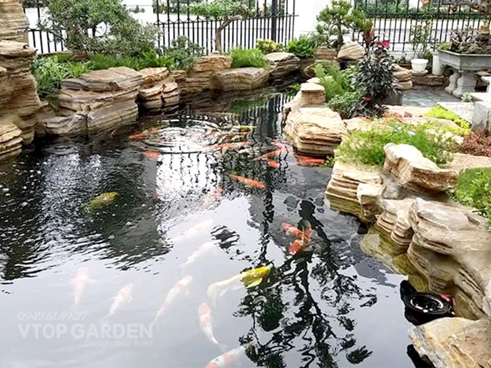 outdoor Koi aquariums